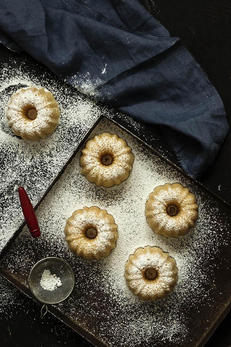 Mini Bundt Cakes de Mandarina 3 bl