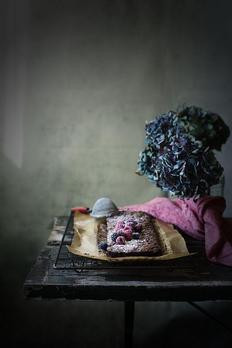 BROWNIE DE FRUTOS SECOS SIN GLUTEN. HARINA DE TEFF