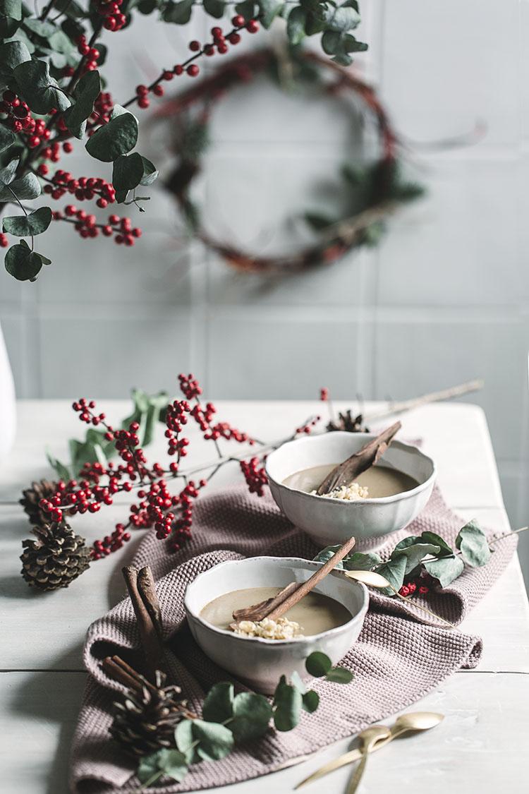 Intxaursalsa para Navidad