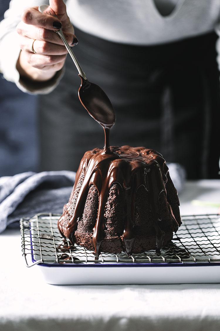Pastel de chocolate casero 1