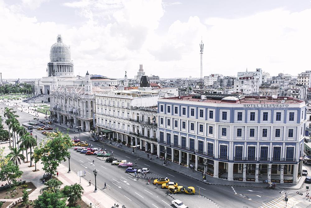 La Habana Parque Central Panorámica